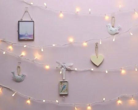 Как красиво повесить гирлянду на разные типы стен